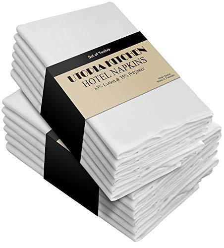 Utopia Kitchen White Cloth Napkins Bulk (Pack of 288)