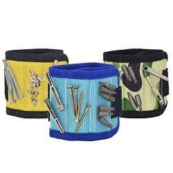 Mega Shop Magnetic Wristband 3 Pcs/Set Bracelet for Holding Tools