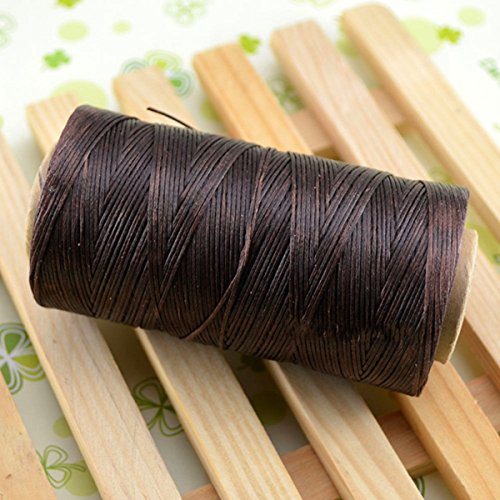 WellieSTR Deep Brown Leather Craft Sewing Waxed Thread Heavy Duty