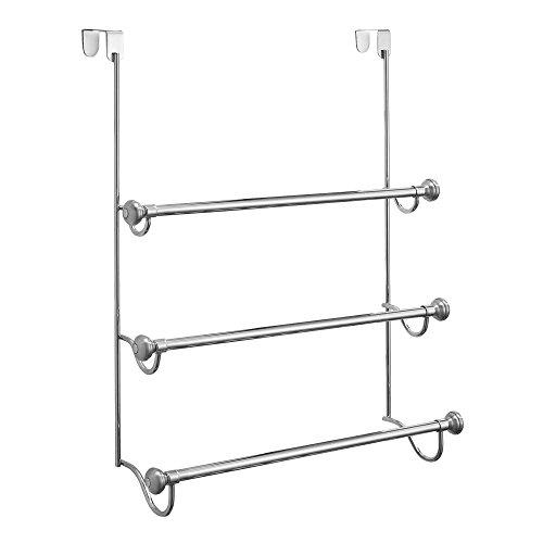 InterDesign York Over Shower Door Towel Rack for Bathroom Storage
