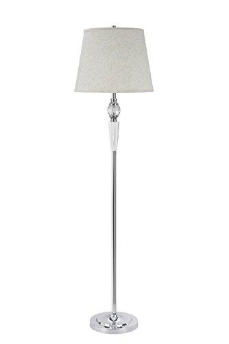 Aspen Creative, 1-Light Crystal Accented Floor Lamp