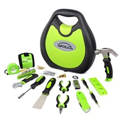 Apollo Tools 72 Piece Household Tool Set including Magnetic Wrist Band