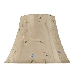 Aspen Creative Transitional Bell Shape Spider Construction Lamp Shade in Gold