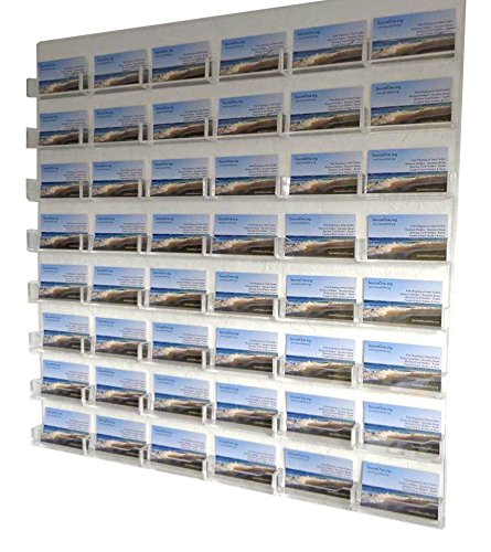 Source One 48-Pocket Wall Mount Business Card Holder