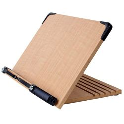 A+ Book Stand Book Holder w/Adjustable Foldable Tray and Page Paper Clips