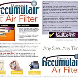 Accumulair Diamond 30x30x1 (Actual Size) MERV 13 Air Filter/Furnace Filters Accumulair Diamond 30x30x1 (Actual Size) MERV 13 Air Filter/Furnace Filters (2 Pack).