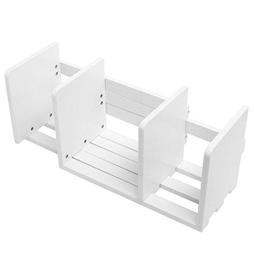 Expandable Wood Desktop Bookshelf/Adjustable Storage Organizer