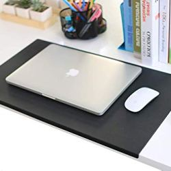 """No Smell 23.6""""x 13.8"""" with Full Lip Office Desk Pad Table Pad Blotter Protector Waterproof PU Surface Mouse Pad Desk Writing Mat"""