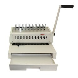 Tamerica 210PB Manual Comb Binding Machine, 20 Sheets Max. Punch Capacity