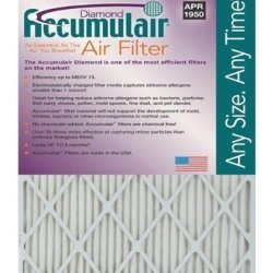 Accumulair Diamond 17x19x1 (Actual Size) MERV 13 Air Filter/Furnace Filters (6 Pack)