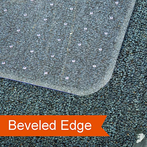 Office Chair Mat for Carpeted Floors, Studded Desk Floor Mat