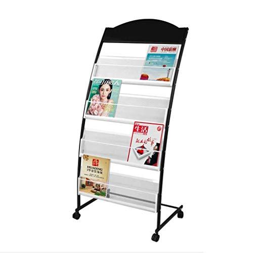 LQQFF Folding Floor Display Stand Movable Data Propaganda Magazine