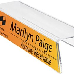 """Single-Sided Cubicle Name Plate Holder 8-1/2"""" Wide x 2-1/2"""" high"""