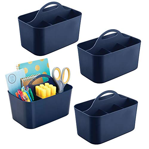 mDesign Small Office Storage Organizer Utility Tote Caddy Holder