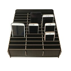 Loghot Wooden 36 Storage Compartments Multifunctional Storage Box