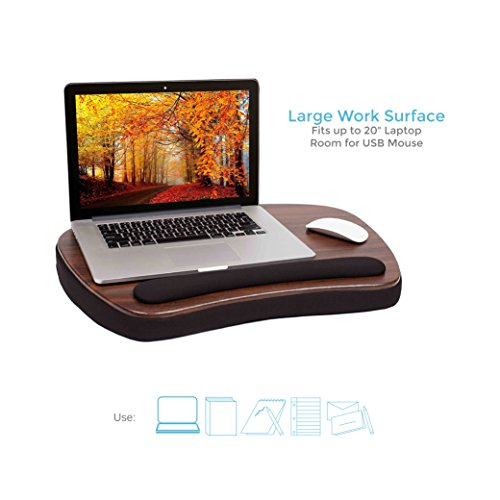 Sofia + Sam Oversized Memory Foam Lap Desk (Wood Top)