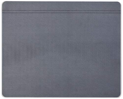 "Artistic 48172 19"" x 24"" Krystal-Lift Non-Glare Desk Pad Organizer, Black/Frosted Lift Top"