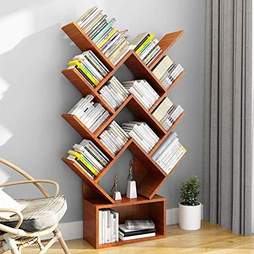 Bookcases and Book Shelves 14 Shelf Tree Bookshelf MDF Black Small Book
