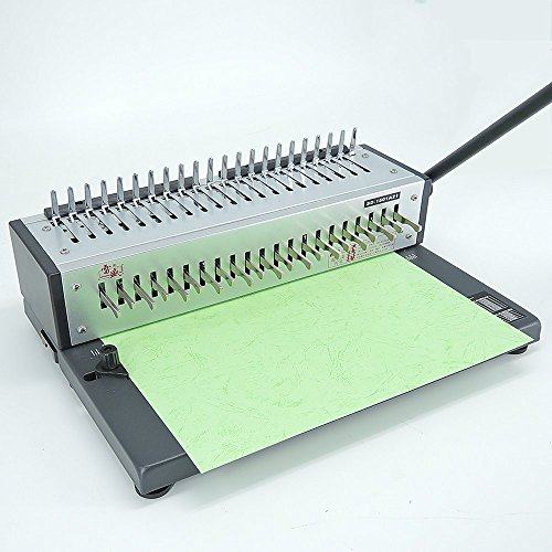 Rayson Comb Binding Machine Paper Punch Binder with Combs Set Designed for variously use in a medium workplace atmosphere, the Rayson SD-1501A21 comb binding machine punches as much as 15 sheets of 80 gsm ?20 lb?paper at a time and binds as much as 200 sheets of 80 gsm (20 lb) with a 22 mm (7/Eight inches) comb ring. Horizontal doc loading ensures correct punch alignment. Releasable 1-21 punching blade for various doc measurement. Enhanced accuracy edge information from three mm to six mm for pinpoint punching. Add a smooth, skilled end to displays, reference paperwork, proposals, and extra with Rayson comb binder. That includes a straightforward-to-use, streamlined design, for elevated productiveness.