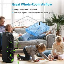 Eureka Instant Clear 26' Purifier, 3-in-1 True HEPA Air Cleaner Eureka Instant Clear 26' NEA120 Purifier, 3-in-1 True HEPA Air Cleaner with Carbon Activated Filter and UV LED, for Allergies, Pollen, Pets, Odors, Smoke, Dust, Black.