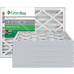 FilterBuy 12x20x2 MERV 8 Pleated AC Furnace Air Filter