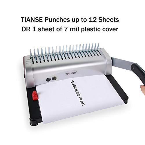 Binding Machine, 21-Hole, 450 Sheet, Comb Binding Machine Binding Machine, 21-Hole, 450 Sheet, Comb Binding Machine with Starter Kit 100 PCS 3/8'' Comb Binding Spines, Comb Binding Machine Perfect for Daily Office Documents.