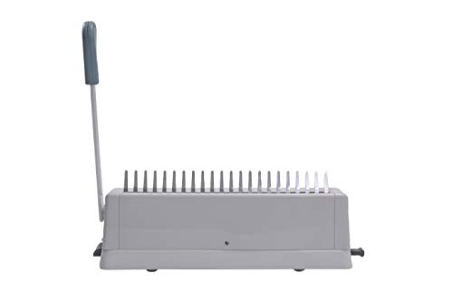 21 Hole Metal Binding Machine Comb Binding Manual Punch 21 Hole Metal Binding Machine Comb Binding Manual Punch and Bind Operation Capacity:250 Sheets by BUYOR.