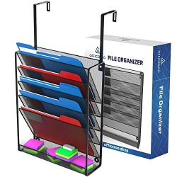 Hanging Organizer Cubicle File Holder - Wall Mount Office