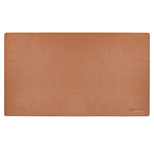 "TOP RATED - Modeska 24""x14"" Leather Desk Pad - Executive Blotter and Protective Mat - Mouse Pad - Brown"