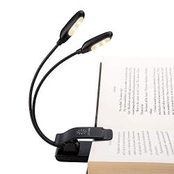 Rechargeable Warm& White 10 LED book light/music stand light