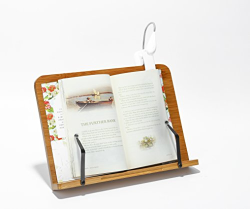 Bamboo Table Reading Book Stand & Cook Book IPad Holder