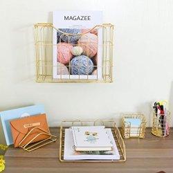 Superbpag Office 5 in 1 Desk Organizer Set Gold- Letter Sorter