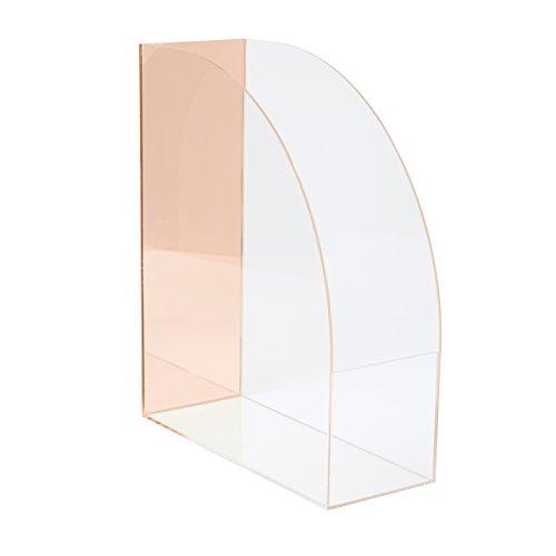 C.R. Gibson Pink Acrylic Mirror Desktop Organizer