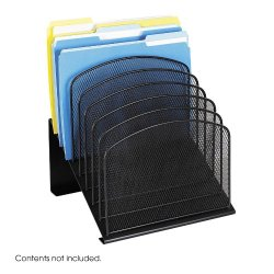 Safco Products Onyx Mesh 8-Tier Vertical Desktop Organizer 3258BL, Black Powder Coat Finish, Durable Steel Mesh Construction, Space-Saving Functionality