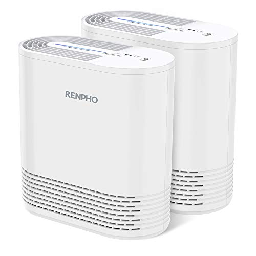 RENPHO Air Purifier for Home Allergies and Pets, Air Purifiers for Bedroom with True HEPA Filter, Air Cleaner for Smokers Office Child Room, Eliminates Allergens Odors Mold Dust Pet Dander,2 Pack