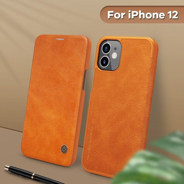 iPhone 12 Vintage Flip Cover wallet PU leather