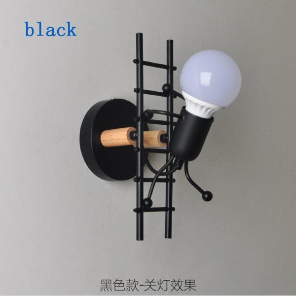Small Man Iron Wall Lamp Creative