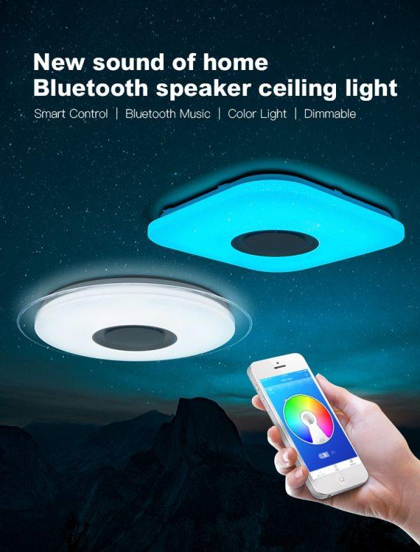 Modern LED ceiling Bluetooth Music