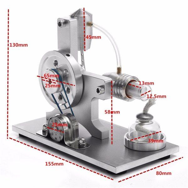Hot Air Stirling Engine Model Electric Generator