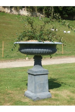 vasque medicis en fonte modele d expo gris