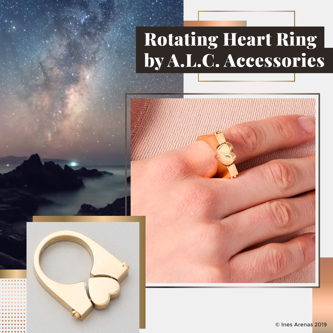 Rotating Heart Ring by A.L.C. Accessories
