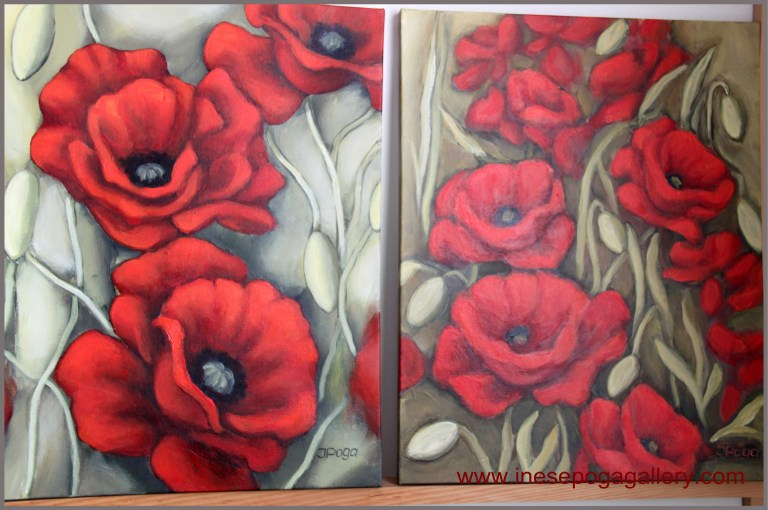 artbylocalartist very red poppies
