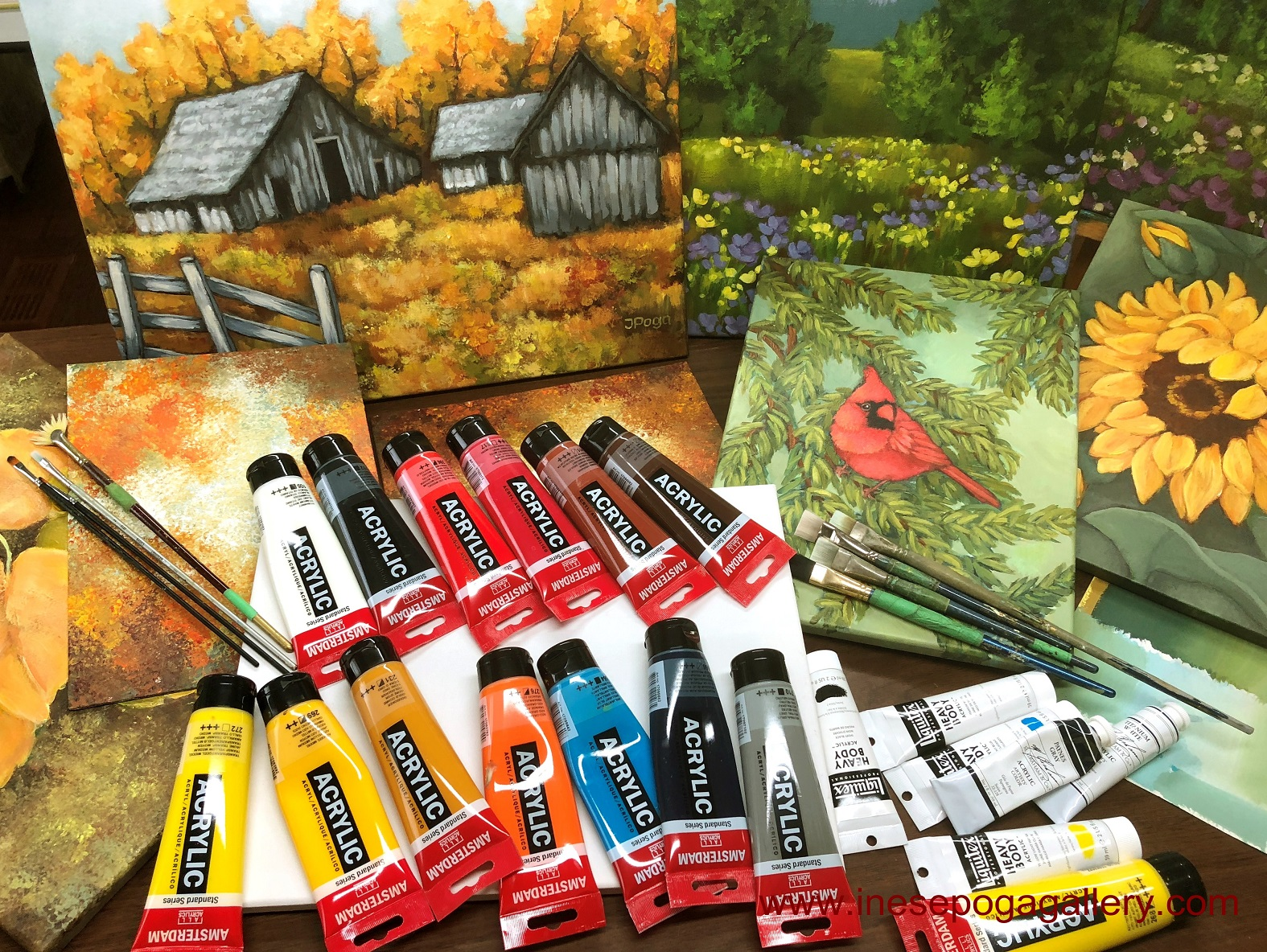 Acrylic painting supplies for art classes