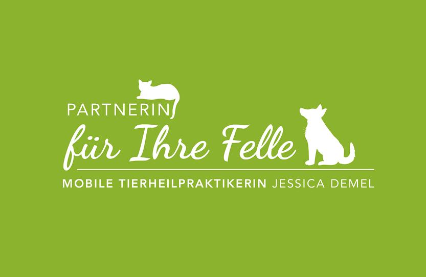 Partnerin für Ihre Felle – Mobile Tierheilpraxis Jessica Demel. Logodesign, Geschäftsausstattung