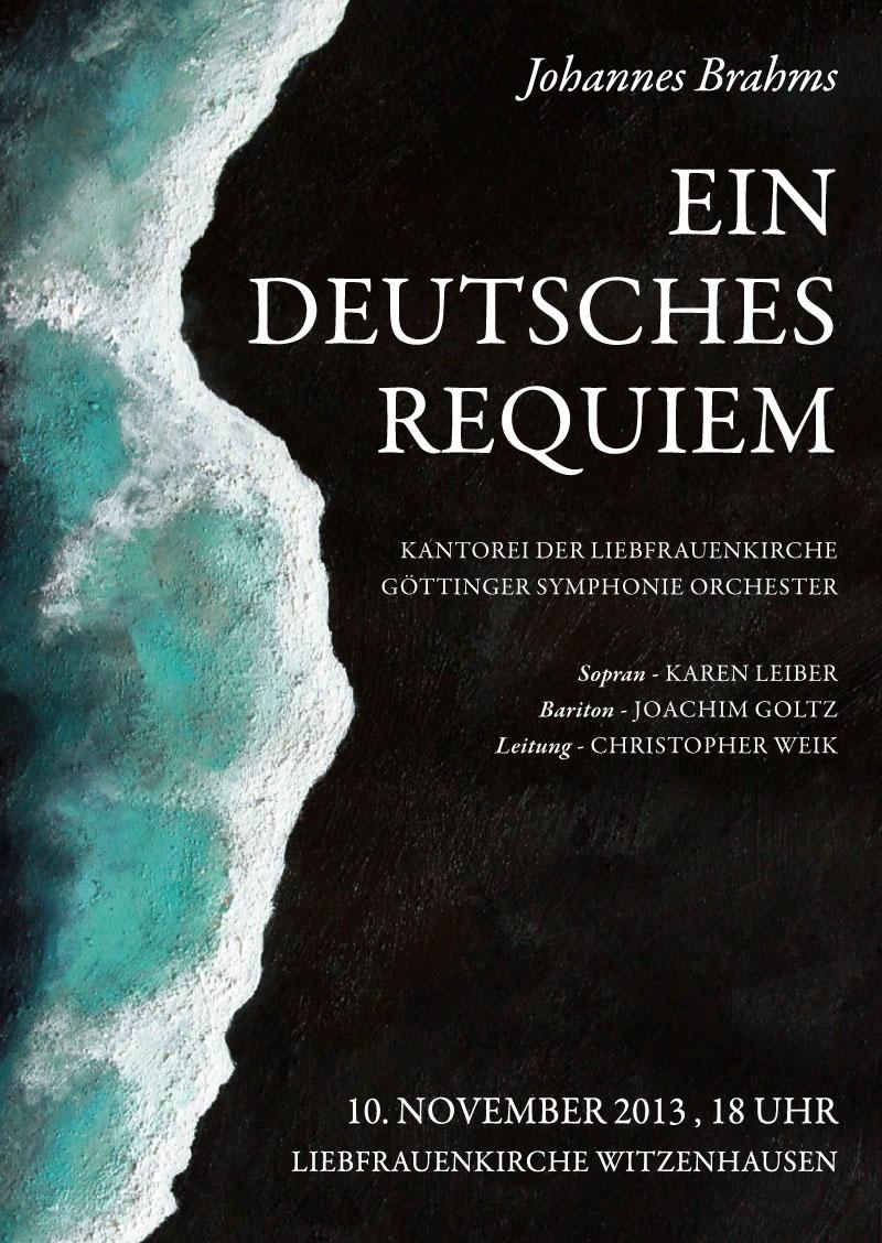 Chorkonzert der Kantorei der Liebfrauenkirche Witzenhausen. Plakatdesign