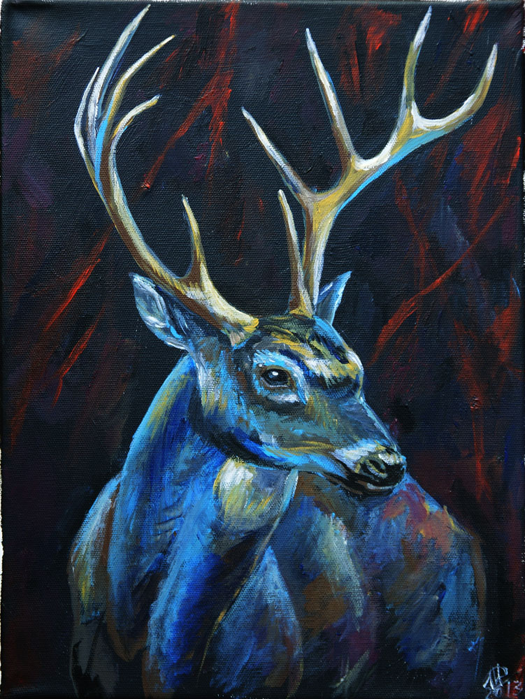 Night deer by inessa demidova