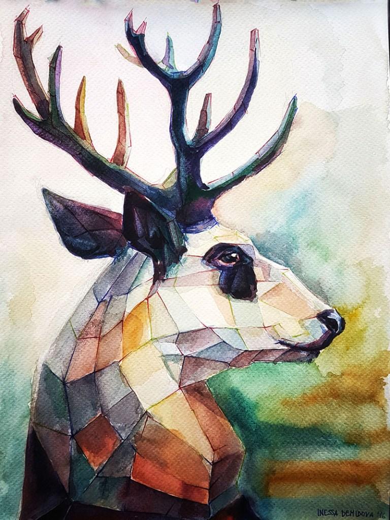 Panda deer by Inessa Demidova