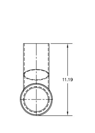 Centek 1200742 Exhaust Sweep Tee Fitting, 4