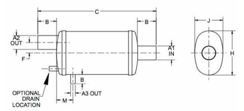 Centek 104H400 Combo-Sep Horizontal Muffler Water