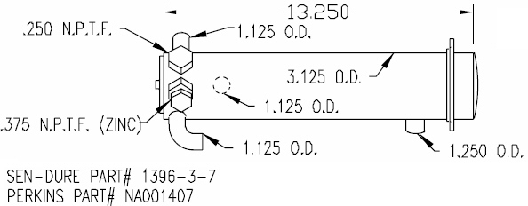 SK PER NA001407 CN Perkins Heat Exchanger 4-107 by Seakamp